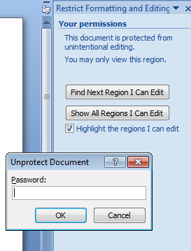 how to password protect a word document to read only