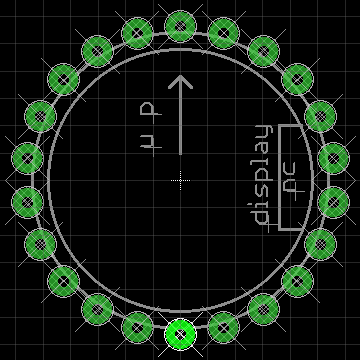 Footprint for tube, after circular layout