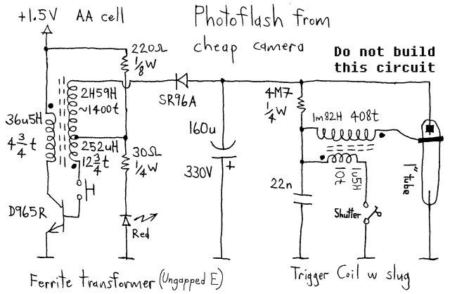 simple flash circuit schematic