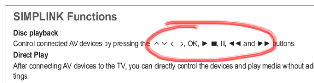 LG manual on SimpLink Functions