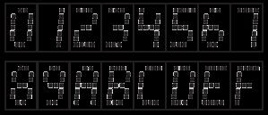 TIL311 font map
